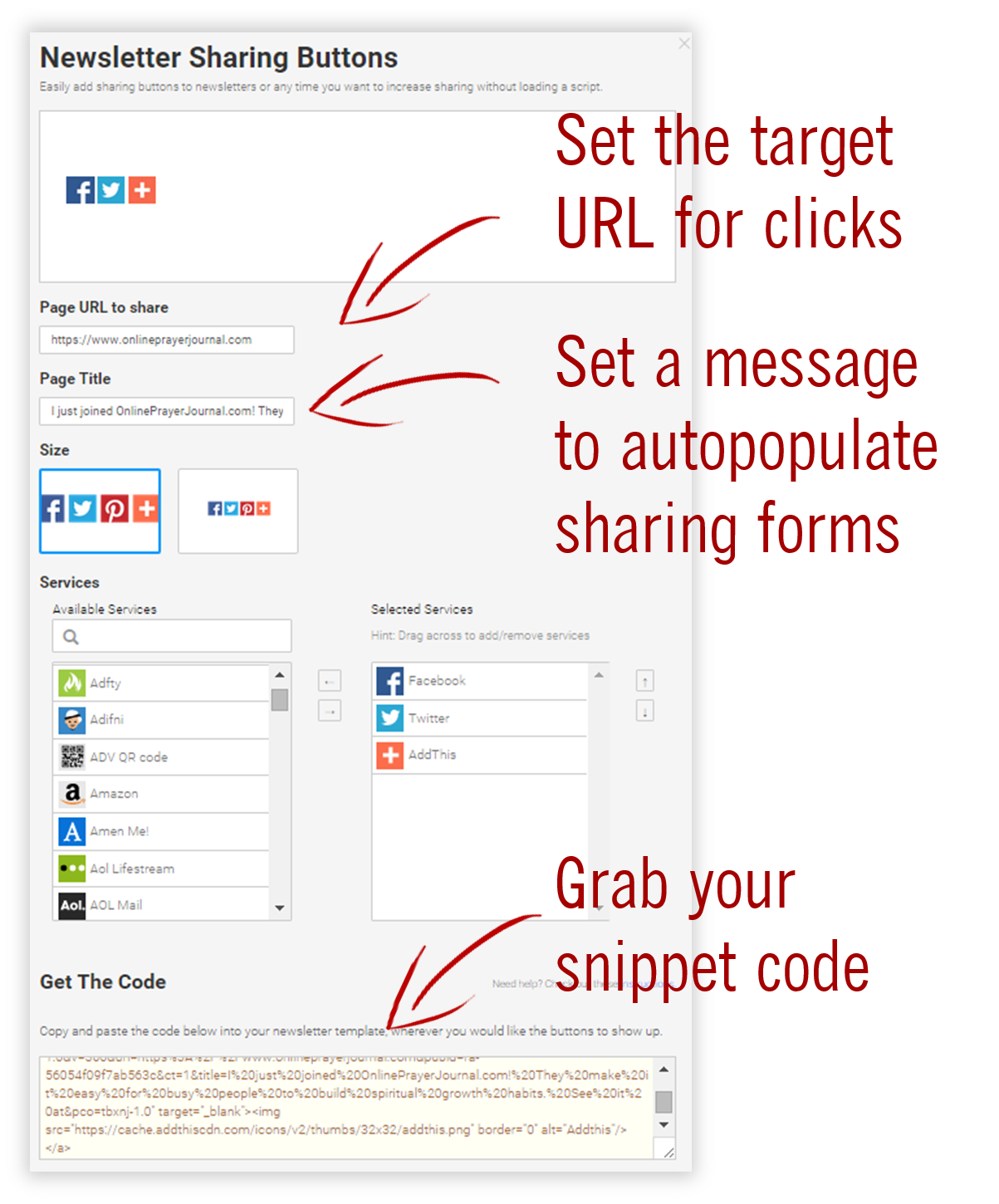 How to Get Referrals - Add This Sharing Code Illustration